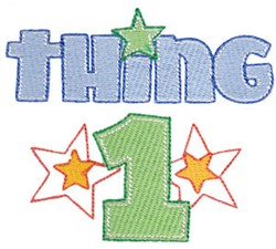 Twin Time Thing 1 embroidery design