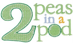 2 Peas In A Pod Twin Time embroidery design
