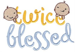 Twice Blessed Twin Time embroidery design