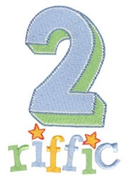 2riffic Twin Time embroidery design