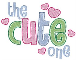 The Cute One embroidery design