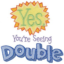 Twin Time Seeing Double embroidery design