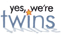 Were Twins Time embroidery design