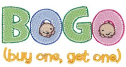 Buy One Get One Twin Time embroidery design