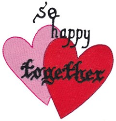 So Happy Together embroidery design