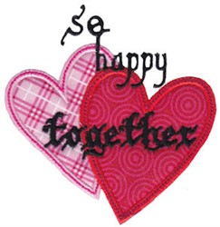 So Happy Together Applieque embroidery design