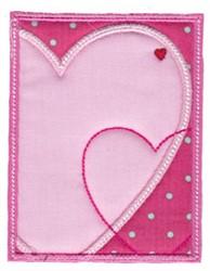 Hearts Rectangle Applique embroidery design