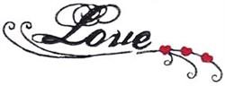 Swirly Love embroidery design