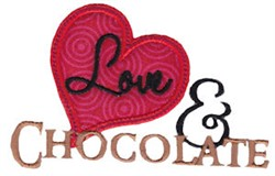 Love & Chocolate embroidery design