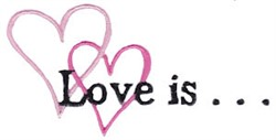 Love is... embroidery design