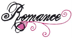 Romance embroidery design