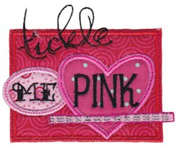 Tickle Me Pink embroidery design