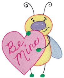 Be Mine Love Bug embroidery design