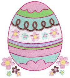 Easter Fun Egg embroidery design