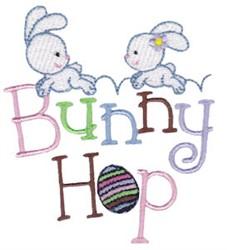 Easter Fun Bunny Hop embroidery design