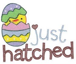 Just Hatched Easter Fun embroidery design
