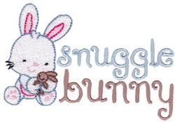 Easter Fun Snuggle Bunny embroidery design
