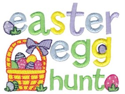 Easter Egg Hunt Fun embroidery design