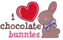 Chocolate Bunnies Easter Fun embroidery design