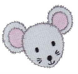 Little Mouse Face embroidery design