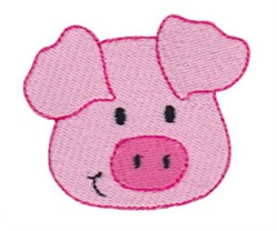 Little Pig Face embroidery design