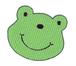 Little Frog Face embroidery design