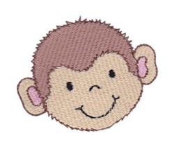 Little Monkey Face embroidery design
