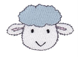 Little Lamb Face embroidery design