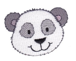 Little Panda Face embroidery design