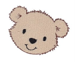 Little Bear Face embroidery design