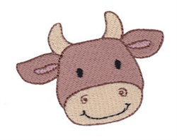 Little Cow Face embroidery design