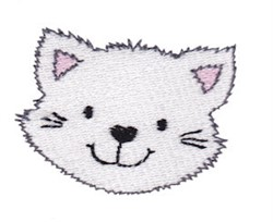 Little Kitty Face embroidery design