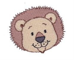 Little Lion Face embroidery design