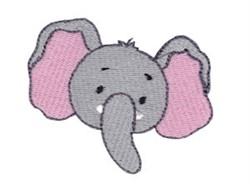 Little Elephant Face embroidery design