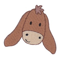 Little Donkey Face embroidery design
