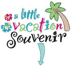 Vacation Souvenir Pregnancy Sentiment embroidery design