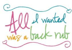 Back Rub Pregnancy Sentiment embroidery design