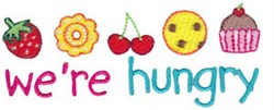 We;re Hungry Pregnancy Sentiment embroidery design