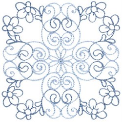 Country Flowers Quilt Block embroidery design