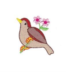Mini Spring Splendor Bird embroidery design