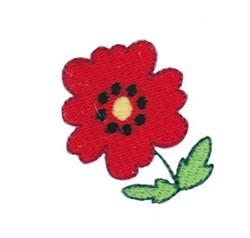 Mini Spring Splendor Poppy embroidery design