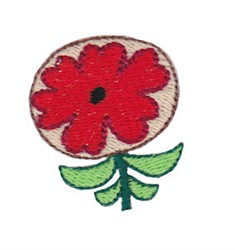 Mini Spring Red Flower embroidery design