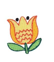 Mini Spring Yellow Tulip embroidery design