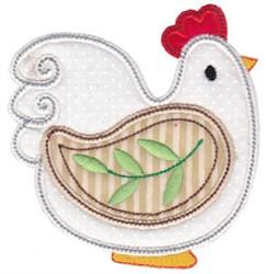 Spring Splendor Applique Chicken embroidery design