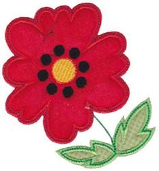 Spring Splendor Applique Poppy embroidery design