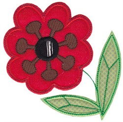 Spring Applique Red Flower embroidery design