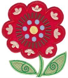 Spring Splendor Applique Daisy embroidery design