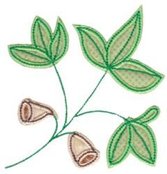 Spring Splendor Applique Plant embroidery design