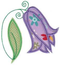 Spring Splendor Applique Tulip embroidery design