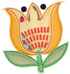 Spring Splendor Applique Tulip embroidery design
